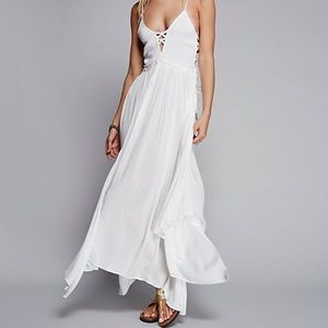 White free people coconuts all day maxi